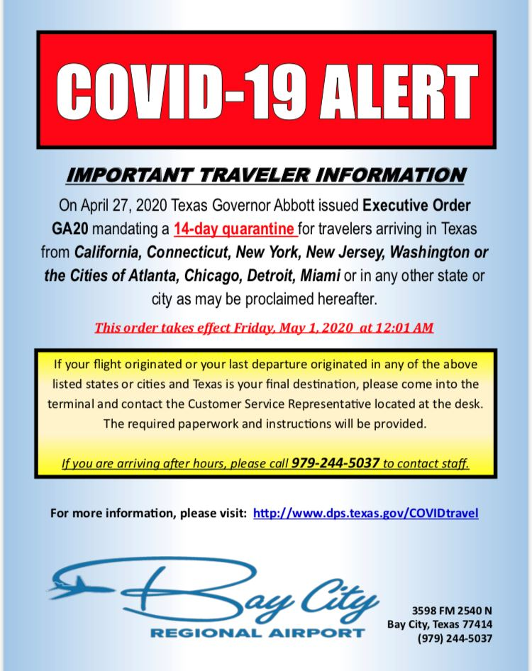 Traveling During COVID-19 Prohibited News Release
